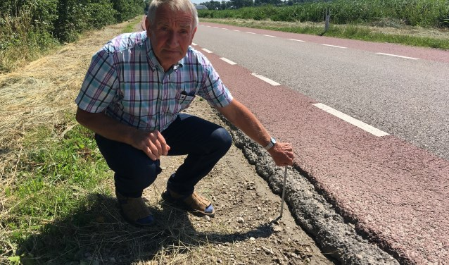 Sjaak Vermeulen vindt dat aan het onderhoud van Oud Aa veel meer aandacht moet worden besteed.