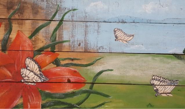 De weekkrant oost gelre kleurrijke en abstracte schilderijen in het skb - Schilderij van gang ...