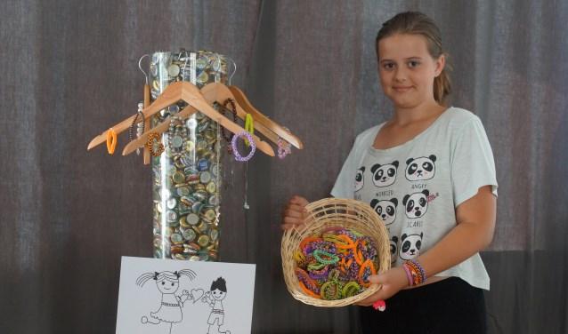 Zoë is nu al druk met acties om geld op te halen voor haar team Walking Kids dat deelneemt aan de 24 uur van Woerden op 25 en 26 mei 2018