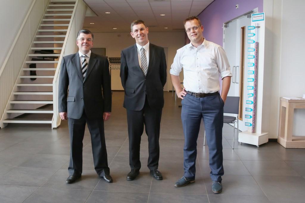 G.J. Baan, C.J. Droger en M.J. Schuurman. (Foto: Arjen Gerritsma)