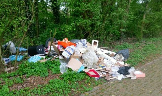 In de Biesbosch wordt de laatste tijd regelmatig afval en grof vuil gedumpt, waaronder afgedankte meubels.