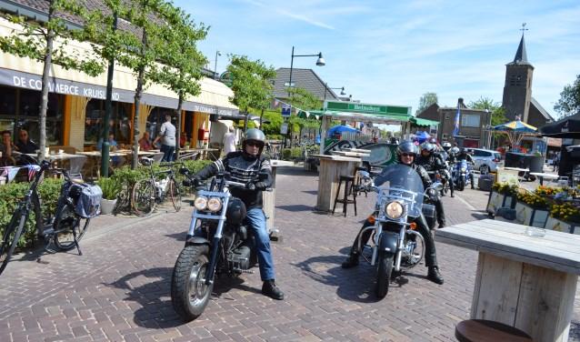 Harley's ontbreken uiteraard niet op American Day in Kruisland.