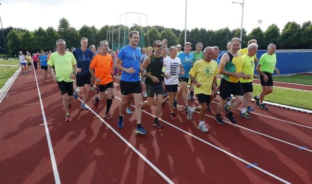 Een training voor de Veldhovense 10 Miles kan nooit kwaad. (Foto: Bert Jansen)