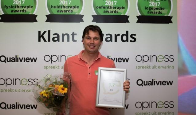 Dennis Melief scoorde een 9.7, gebaseerd op 99 reviews, de fysiotherapeut werd daarmee derde van Nederland. FOTO: PR