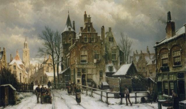 Een bijzondere ontdekking van de Eper kunst-intermediair, taxateur en restaurator, Jan Bockweg. Dit 'Stadsgezicht in de winter', is  geschilderd door Willem Koekkoek (1839-1895).