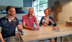 Laurens Heijboer (links), Peter van Uden, Marianne Theunisse.(foto: Cornélie Heijboer)