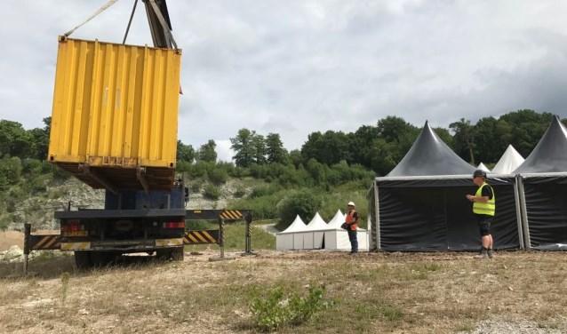 De werkzaamheden voor de opbouw van CINEMA in het Steengroevetheater zijn begonnen. Foto PR