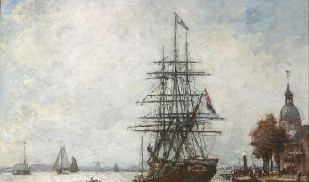 Johan Barthold Jongkind, Vue de Dordrecht, 1869, particuliere collectie.