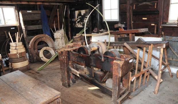 De inrichting van de hoepmakerij achter Museum De Koperen Knop. (Foto: Privé)