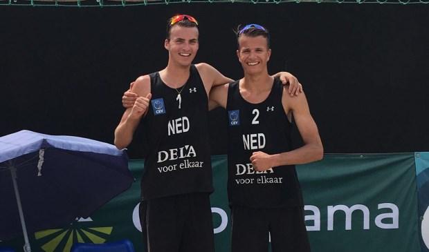 Yorick de Groot (r) en Noah Aerts in Hongarije. (Foto: Privé)