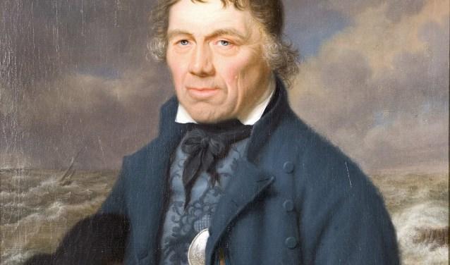 Portret van Frans Naerebout, geschilderd door Pieter Bourjé. Voor het eerst geëxposeerd in Museum Middelburg, 1817. Tegenwoordig te zien in het Muzeeum in Vlissingen.