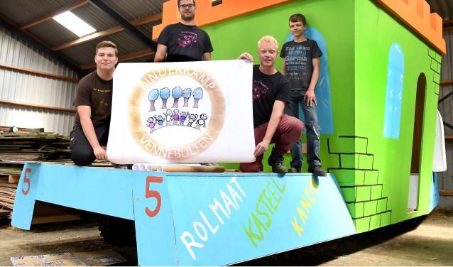 Vlnr: Daan Roenhorst, Koen van Lent, Jelle Weikamp en Björn Neerhof. (foto: Roel Kleinpenning)