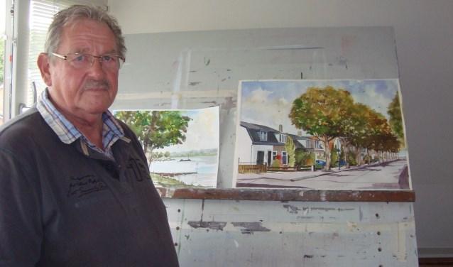 Jan van der Wal haalt veel voldoening uit aquarellen schilderen. (Foto's: Eline Lohman)