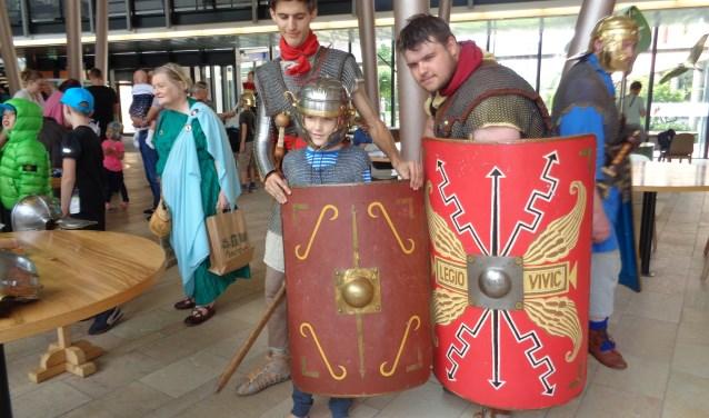 De Romeinen op bezoek in het Wilhelmina Kinderziekenhuis.