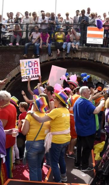 Tijdens de Canal Parade in Amsterdam heeft Gouda zich voor het eerst gepresenteerd. Foto:Marianka Peters