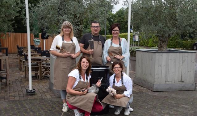 De initiatiefnemers van het Dreumels Food Festival. (Foto: Hanneke Hoefnagel)