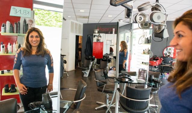 Haarstudio Top Chic van Nurcan Hogeboom-Akar wordt verbouwd in de laatste week van augustus. Foto: Dennis Dekker