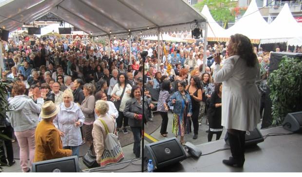 Een optreden van Justine Palmelay tijdens een vorige editie van de Pasar Malam. (foto: pr)