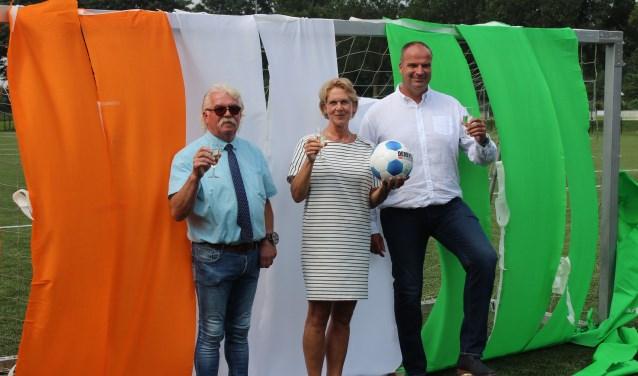 Vanaf links: Adrie van Dalem, Simone Veldboer en Berry van Verseveld. (Foto: Henk Jansen)