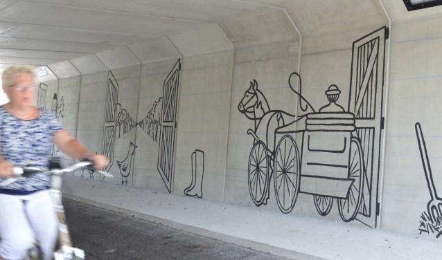 Wat de bewoners van het landgoed Vollenhoven zien wanneer zij uit hun ramen kijken is geillustreerd. De andere zijde van de tunnel laat het perspectief vanuit de passant zien. FOTO: Stichting Wegh de Weegen