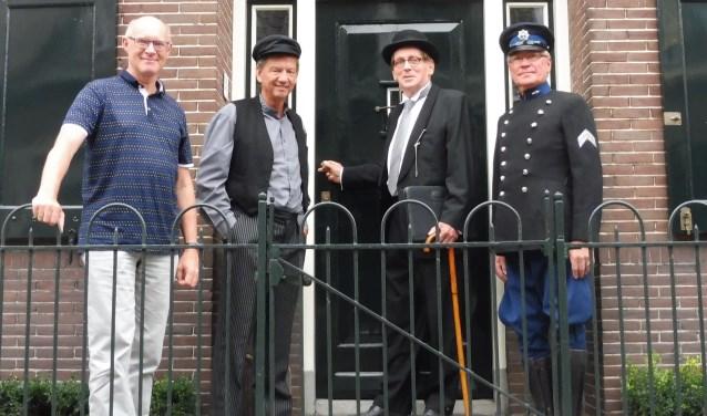 De gezichten achter Stichting Open Monumentendag Montfoort/Linschoten: Hans Bakker, Evert de Jong, Hank Kautz en Peter Versloot. Niet op de foto: Eduard Treur. (Foto: Janneke Severs-Hilgeman)