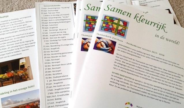 In de Aanbodkrant presenteert de Zierikzeese Thomaskerk wat er in het komende seizoen wordt georganiseerd. FOTO: PR