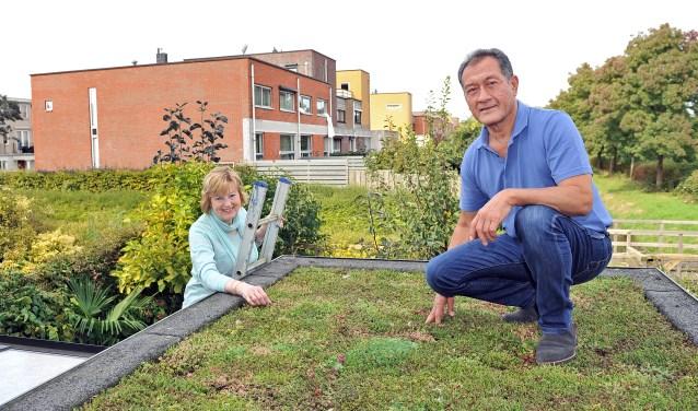 """Marga en Ruud Simons: """"We kunnen iedereen een groen dak aanraden."""" Foto: Erwin Dijkgraaf Fotografie"""