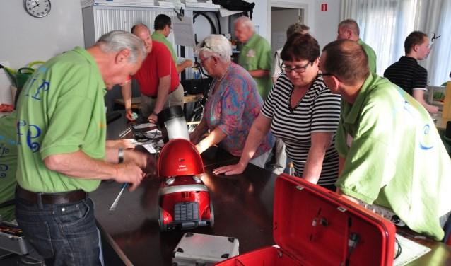 De reparateurs staan donderdagavond weer voor u klaar in het KDC Vrijwilligershuis in Kaatsheuvel.