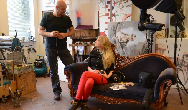 Vader en dochter Konings roepen alle Delftenaren op om naar de Herfstsalon en de Atelierroute te komen.