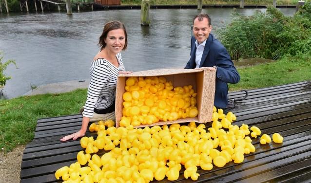 Marlot Cornielje en Niek Herwers. (foto: Roel Kleinpenning)