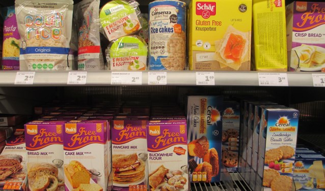 In de supermarkt zijn volop artikelen verkrijgbaar voor mensen met een voedselovergevoeligheid. (Foto: Ditty Drenthe)