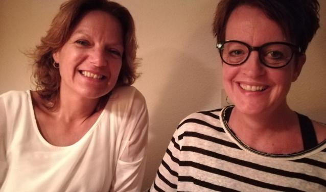 """Anne-Marie Oostermeijer en Ilonka Noort: """"Vrouwen gaan met nog meer energie naar huis"""" (foto: Anja Straathof)"""