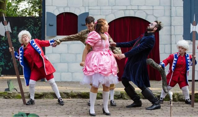 Mooi weer bij de succesvolle première van De Gelaarsde Poes in De Donck in Someren