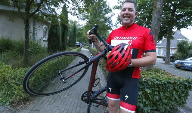 Frank Verspaandonk is verslingerd aan de wielersport. (Foto: Bert Jansen).