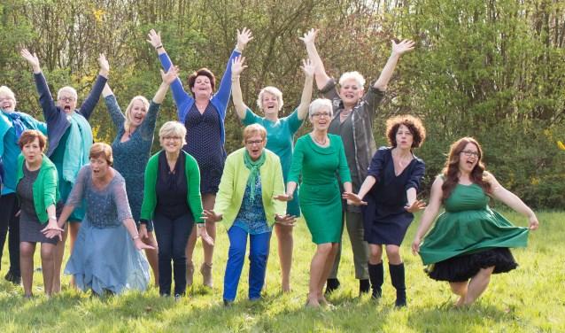 Een aantal dames van het koor Jazzy Women.