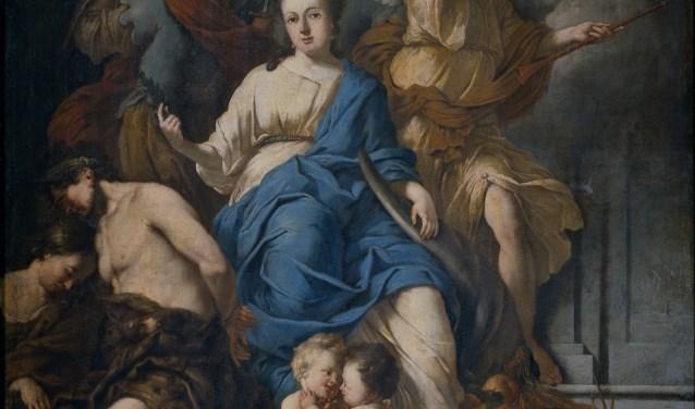 Een allegorie van de Vrede van Rijswijk van Johannes Voorhout.