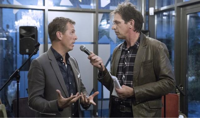 Tijdens de opening interviewde Jan Douwe Kroeske Bart Hellendoorn van het KWF.