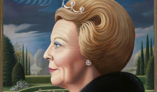Portret van prinses Beatrix, gemaakt door Sylvia Willink.