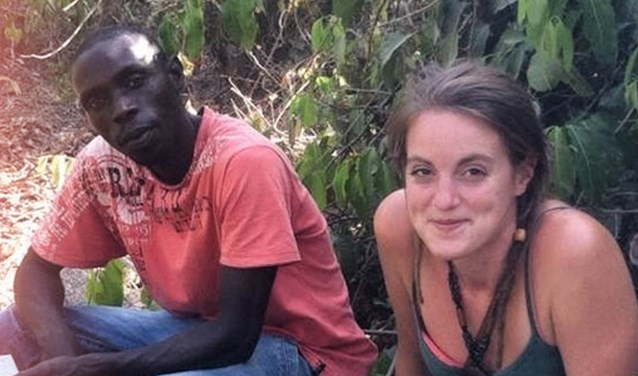 Eigenaar van de bananenplantage, Seedy met Marisse uit Oud-Beijerland.
