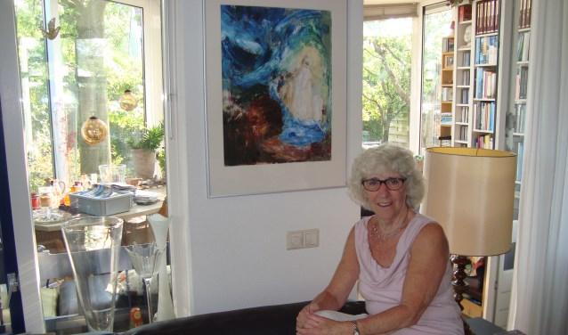 Margriet van Iperen de Ruijter haalt veel voldoening uit schilderen. (Foto: Eline Lohman)