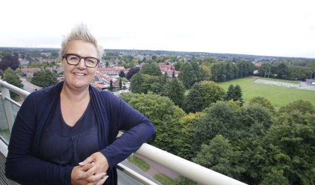Astrid Baggermans: 'Ziet het zelf, het magnifieke uitzicht, de vrijheid.' (Foto: Jurgen van Hoof).