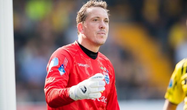 Diederik Boer tijdens de wedstrijd van afgelopen zondag tegen RKC, die eindigde in een 1-1 gelijkspel. (foto: Henry Dijkman)