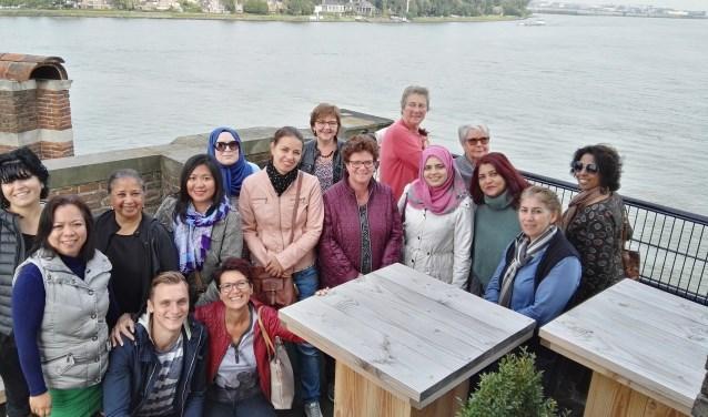 De start bracht de dames naar Dordrecht. (Foto: Privé)