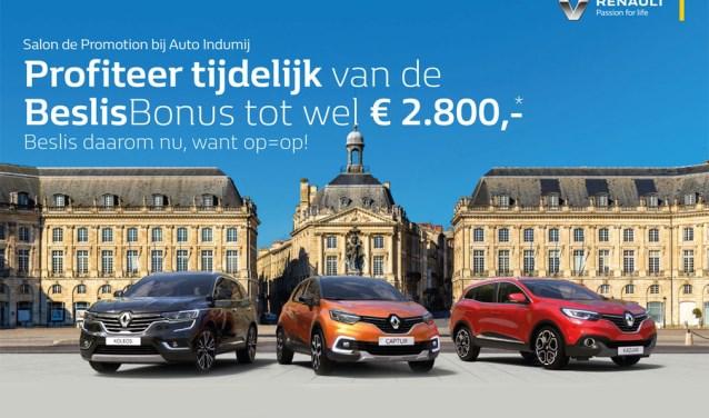 Renault Garage Barendrecht : Salon de promotion bij renault dealer auto indumij het zuiden
