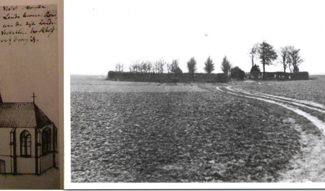 Tot de aanleg van de woonwijk bleef het kerkhof zo in de akker (in d'Ekker) liggen.