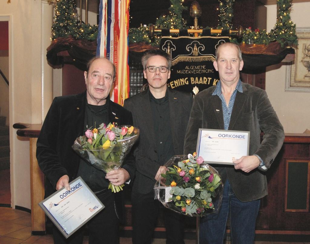 V.l.n.r. Jan van Brink, Ronnie Gerretzen en Rik Alink.
