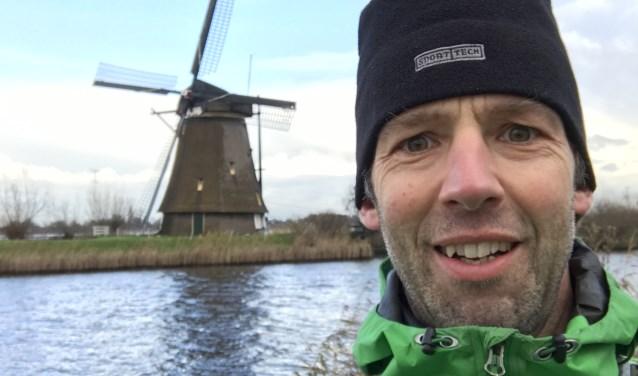 """Jaap van den Burg tijdens een van zijn trainingen in Nederland. """"Met het uitkomen van mijn droom om op het dak van Afrika te staan, hoop ik dat ook de dromen van kinderen in oorlogsgebied uitkomen."""""""