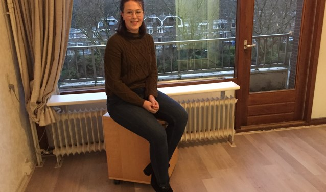 Margot Hols in een toekomstige studentenkamer