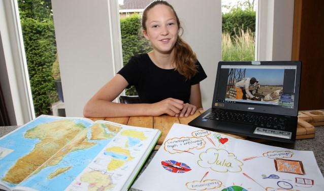 Nog een paar weken en dan gaat het echt gebeuren, Julia gaat in Afrika meewerken aan projecten. Foto: Theo van Sambeek.