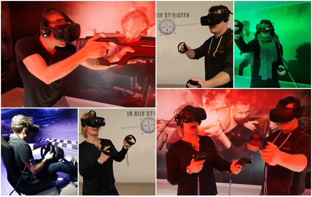 Impressie van de VR Roomm met rechtsonder eigenaren Kim en Arthur van der Straten.